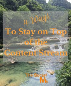 4 Ideas to stay on top of the content stream. Tools and methods to discover great content and know what is going on in your niche. B2b Social Media Marketing, Love Your Family, Big Data, Content, World, Management, Top, Success, Business