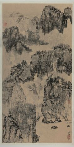 Mansheng Wang - Memory of Wuxia   From a unique collection of paintings at http://www.1stdibs.com/art/paintings/