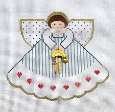 Painted Pony Nurse Angel RN LPN & Charms HP Needlepoint Canvas Ornament