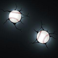 3D Wall Art Nighlight - Baseball