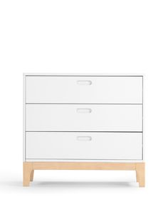 Linus Chest of Drawers, in Pine and White. Stylish storage, for kids. £199. MADE.COM