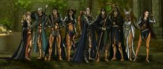 """knight-enchanter: """" domnorian: """" """"Do you remember, Fen'harel? When we were all together, soldiers fighting for the People. When we were not gods tearing ourselves apart…"""" Finally, the Evanuris fanart..."""