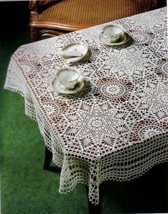 Crochet Tablecloth The pattern of the tablecloth edge Pattern … Pattern … Pattern … Crochet Bedspread The main motif More via the same motif … Buy the book that contains the pattern online … More from the same book … Filet Crochet, Crochet Diagram, Crochet Art, Crochet Home, Thread Crochet, Crochet Motif, Vintage Crochet, Crochet Designs, Crochet Doilies