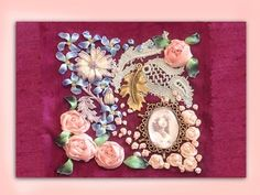 AWESOME how to make a silk ribbon embroidered trinket box top - YouTube