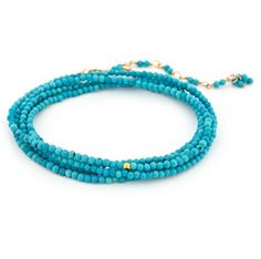 b098 turquoise wrap bracelet