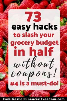Save Money on Groceries!--Discover 73 easy hacks to save money on groceries! Slash your grocery budget in half with these money-saving tips! Learn simple ways to save on your grocery budget! Free Groceries, Save Money On Groceries, Ways To Save Money, Money Tips, Frugal Living Tips, Frugal Tips, Frugal Meals, Money Saving Meals, Money Savers