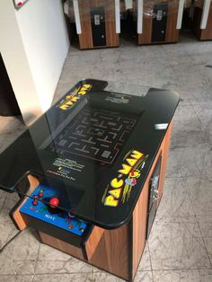 ms pacman galaga pac man 60 classic 80's cocktail table arcade
