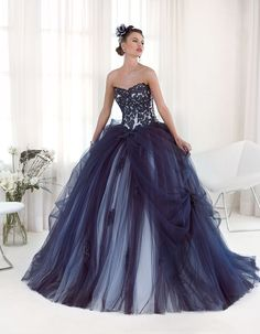 Hot-Sale-font-b-Dark-b-font-font-b-Blue-b-font-Tulle-Sweetheart-Princess-