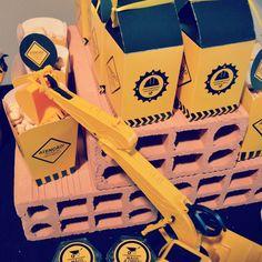 decoração festa infantil tratores caminhões construção mineração