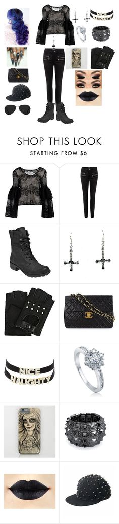"""""""#OOTD"""" by ramona-roxie ❤ liked on Polyvore featuring Boohoo, Paige Denim, Rockport, Karl Lagerfeld, Chanel, Charlotte Russe, BERRICLE, Bling Jewelry, Lauren Conrad and Ray-Ban"""
