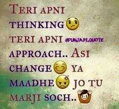 Ooooooo !!!!!! Sikh Quotes, Hindi Quotes, Quotations, Punjabi Jokes, Punjabi Funny, Badass Quotes, Cute Quotes, Best Quotes, Funny Qoutes