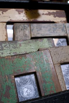 reclaimed wood frames love them