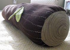 log pillow for woodland nursery