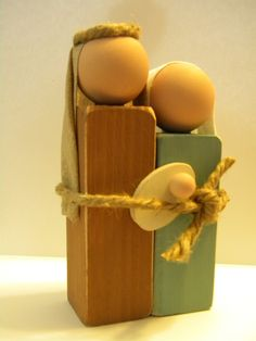 Wood Nativity - I think I could make this.