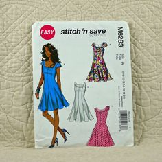 Dress, McCalls M6263 Pattern for Women, Lined, Godets, Flared, Princess Seams, Back Zipper, 2011 Uncut, Size 6 8 10 12 14 16 18 20, 3-oz by DartingDogPatterns on Etsy
