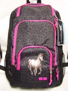 Girls HORSE Backpack~White Horse~Lipizzan~NWT~JanSport~School~Equine~