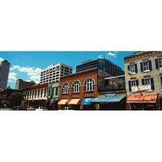 View of buildings on 6th Street Austin Texas USA Canvas Art - Panoramic Images (36 x 12)
