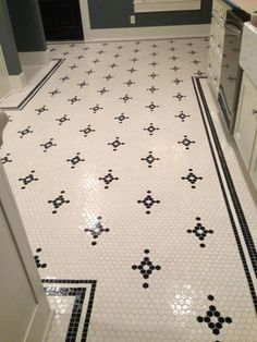 Love This Antique Reproduction Hex Tile Floor This
