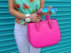 pink Kate Spade bag.