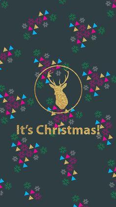 [クリスマス]おしゃれなキラキラロゴ iPhone壁紙 Wallpaper Backgrounds iPhone6/6S and Plus Christmas iPhone Wallpaper