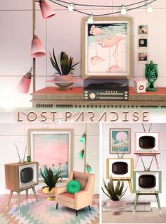 nice Sims 4 CC's - The Best: Retro Lighting, TV and Paintings Conversions b. The Sims 4 CC Sims 3, Sims 4 Mm Cc, Sims Four, Sims 4 Tsr, Los Sims 4 Mods, Sims 4 Game Mods, Sims 4 Bedroom, 70s Bedroom, Bedroom Vintage