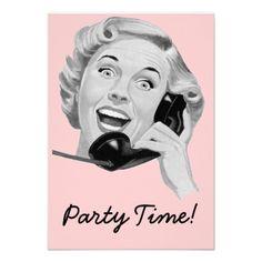 Retro 1950s Birthday Party V2 Custom Invite