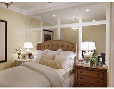 Ideas Home Bedroom Mirror Decor, Trendy Bedroom, Small Spaces, Home Bedroom, Bedroom Wall, House, Bedroom Decor, Mirror Wall Bedroom, Home Decor