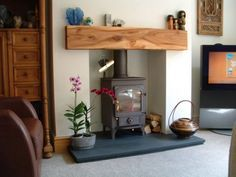 Clearview Pioneer 400 wood-burner.