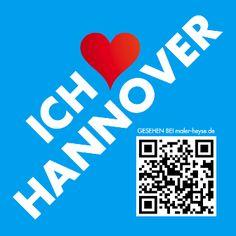 Liebe Hannover liebe emotionen kussmund qr code qr marketing maler