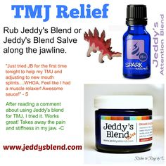 All naturals TMJ Relief. Apply along the jaw line and it helps the face to relax.