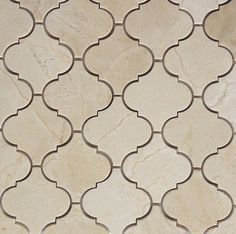 Crema Marfil Arabesque Marble Tile.  I know Crema Marfil, cut into this incredible Moroccan shape.  Backsplash or Bathroom picture insert, you cannot go wrong and priced at just $16.95SF - what more can we say!