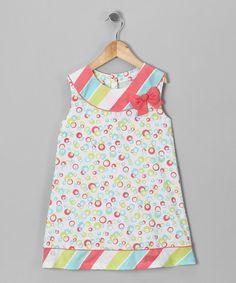 Look at this #zulilyfind! Aqua & Pink Sherbet Yoke Dress - Infant, Toddler & Girls #zulilyfinds