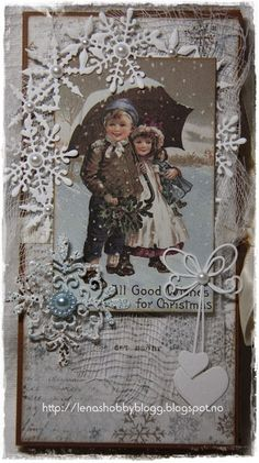 Chokolate card/sjokoladekort Jul 2013 Vintage Christmas, Christmas Cards, Merry Christmas, Diy Paper, Paper Crafts, How To Make Paper Flowers, Diy And Crafts, Recycling, Projects To Try