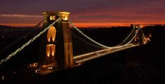 12 places to visit in Britain during including Bristol, Suffolk, Snowdonia, Blenheim Palace, Dorset and Cardiff. Bridge Builder, Blenheim Palace, Suspension Bridge, Snowdonia, Beautiful Places, Amazing Places, Golden Gate Bridge, Cool Places To Visit, Bristol