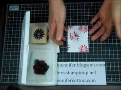 Baby Wipe Stamping Technique with Stampin' Up! - YouTube