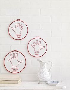 Embroidery Hands, Family Wall Art