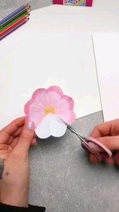 Diy Paper, Paper Crafts, Crafts To Make, Diy Crafts, Easy Doodles Drawings, Simple Doodles, Paper Flowers Craft, Flower Crafts, Diy Leather Bracelet