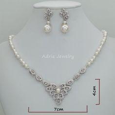 Brautschmuck Blatt setzt Vintage-Stil Hochzeit von adriajewelry