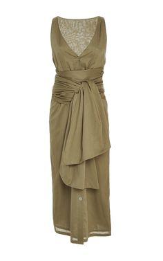 Emerald Wrap Bay Dress by MARYSIA SWIM for Preorder on Moda Operandi