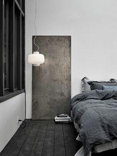 + #monochrome #linen #bedding #minimalism