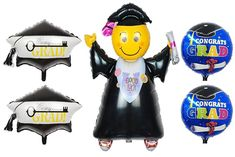 Graduation Balloons Party Jumping Grad To Sucess Grad Mylar Inflatable Balloons #KATCHON #Graduation