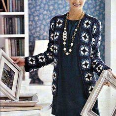 New Crochet Jacket Coat Inspiration Ideas Crochet Patterns Free Women, Crochet Cowl Free Pattern, Crochet Headband Pattern, Crochet Granny, Irish Crochet, Crochet Jacket, Crochet Blouse, Baby Clothes Patterns, Clothing Patterns