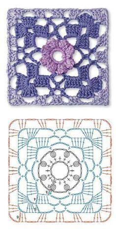 Crochet granny flower diagram... Free schema pattern!