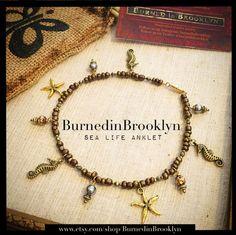 The Sea Life Anklet by BurnedinBrooklyn by BurnedinBrooklyn