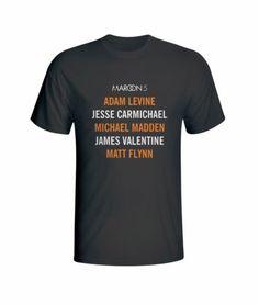 Adam L J Carmichael Michael Madden Matt Flynn James V Maroon5 Black T-Shirt