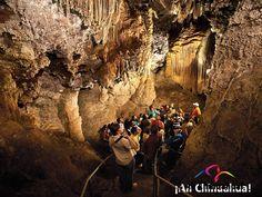 TURISMO EN CHIHUAHUA.  En Chihuahua, existen varias grutas en el Estado Grande, las más famosas son: Grutas y Cuevas. Allende: Cueva del Diablo; Coyame: Grutas de Coyame; Chihuahua: Nombre de Dios; Chuhuichupa: Cueva del Garabato; Santa María de las Cuevas: Cueva de los Comanches. Naica. En su próxima visita al estado más grande de México, le recomendamos visitar estas hermosas grutas.  #turismoenchihuahua