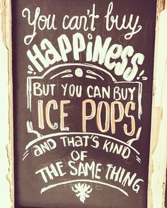 Ice Pops, Chalkboard Signs, Art Quotes, Merry, Popsicles, Ice Candy, Slushies, Ice Cream Pops, Popsicle Sticks