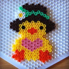 Chick Easter hama beads by hummingeisbird Perler Beads, Perler Bead Art, Fuse Beads, Hama Perler, Fuse Bead Patterns, Perler Patterns, Beading Patterns, Loom Patterns, Loom Beading