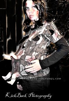 Cool Pregnant Zombie Costume... Coolest Homemade Costume Contest
