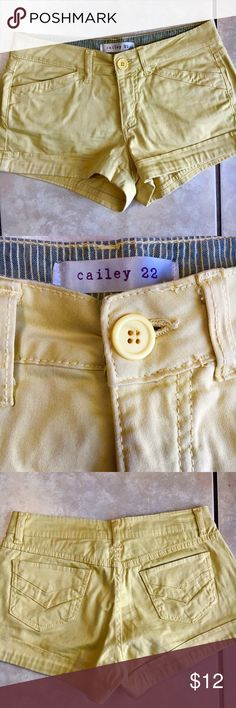 Cute Boutique Shorts I SHIP SAME OR NEXT DAY! Boutique Shorts, paid $39 new, brand: Cailey 22, 2-inch inseam, 10-inch length, cotton/spandex blend, slit pockets in front and back, size 27 Cailey 22 Shorts